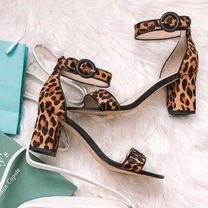 Leopard block heel nwot